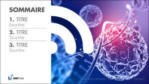 Présentation de biotech avec un template créatif